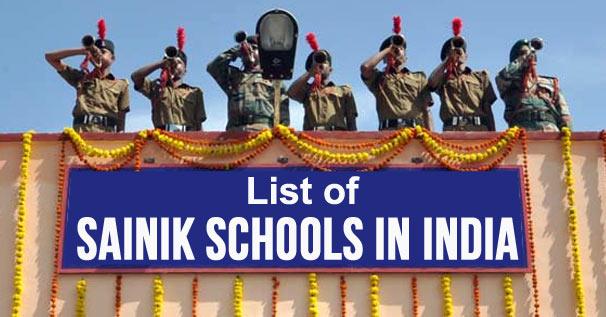 Top 6 Sainik Schools in India – Ranking List | Oct 2021