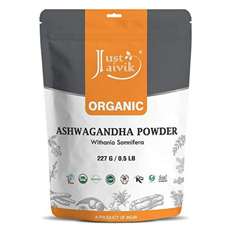 100% Organic Ashwagandha Powder- Withania Somnifera- USDA Certified Organic- 227g (0.5 LB) 8 oz – Ayurvedic Herbal Supplement That Promotes Vitality & Strength – Support for Stress-free Living