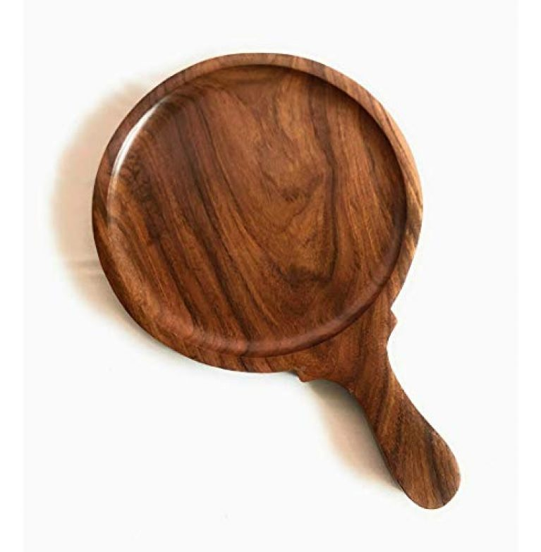 Quirky Kraft Wooden Pizza Pan, Pizza Serving Tray of Kitchen|| Platter || Sheesham || 9 Inch, Overall 13 Inch