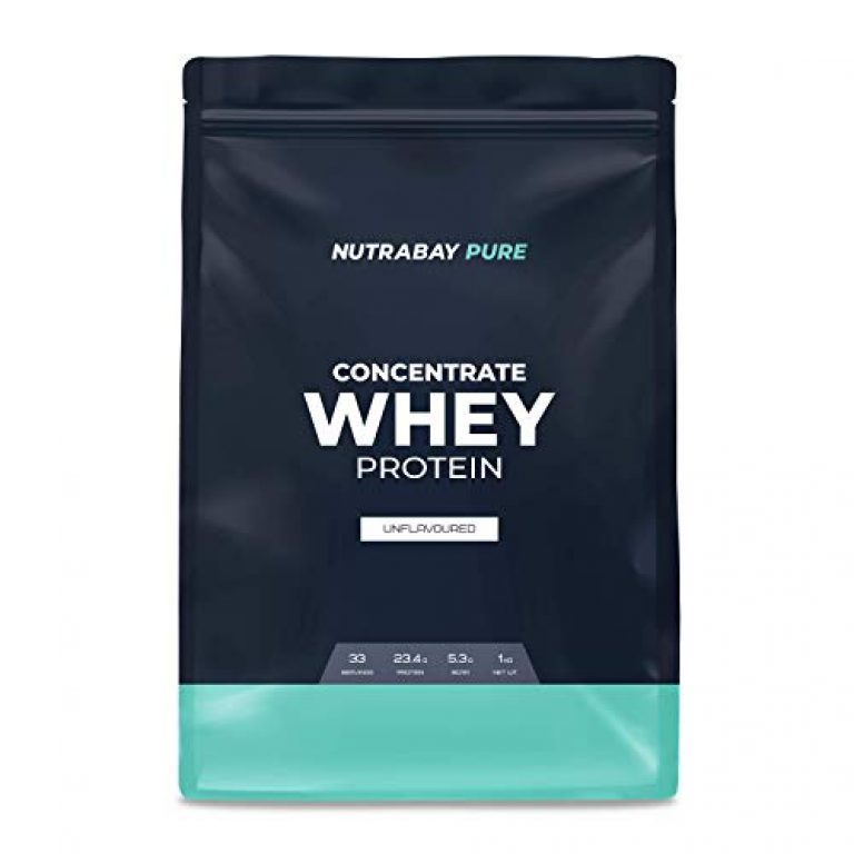 Nutrabay Whey Protein Concentrate (Unflavoured), Raw Whey from United states of america, 33 servings, 1 kg