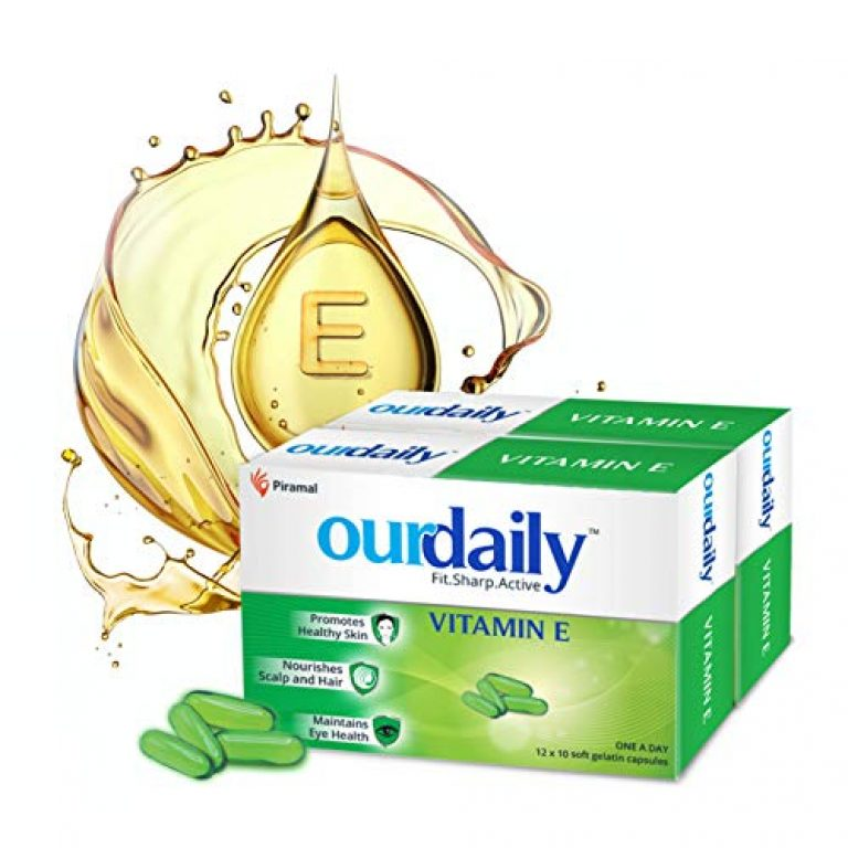 Ourdaily Vitamin E-400mg by Piramal for beautiful skin, healthy hair and eyes-240 capsules