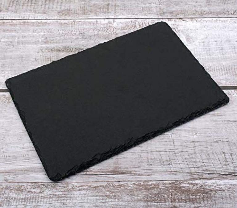 Store2508 Natural Black Slate Tray Rectangular Platter, Food Platter Server Cheeseboard, 30×20 cm