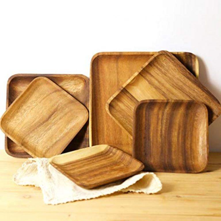 Elegant Essence Wooden Tray Dinner Plate Food Dessert Tea Plate 250X165mm