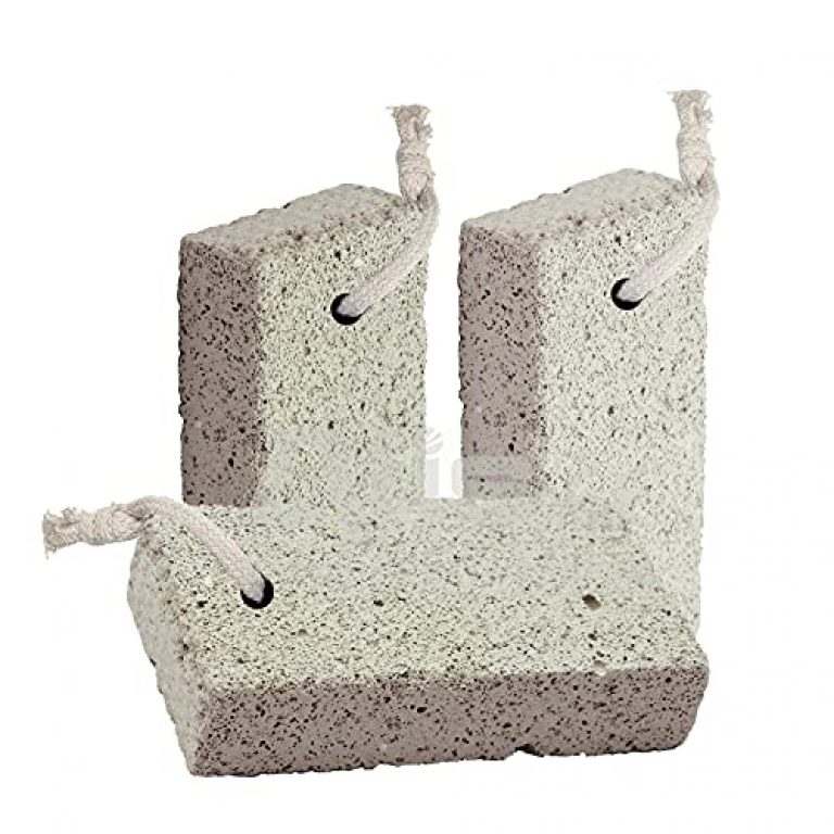 Alis Lava Natural Pumice Stone for Dead Skin, Heels, Elbows, Hands – Pedicure Exfoliation Tool for Callus Remover for Feet Heels and Palm   Dry Dead Skin Scrubber Natural Lava Stone Pedicure Tool Pack of 3- White Square Shape