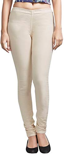 ADBUCKS Womens Slim Fit Denim Lycra Stretchable Jeggings Mid Rise, Ankle Length with Elasticated Waistband (Multi Color & Plus Size Also Available) (Size 30-46 Inch)