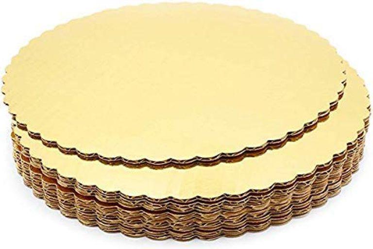 APSAMBR®- Cake Board 10 INCH Round Cardboard 5 Picecs-Piece Cardboard Round Cake Circle Base, 10 Inches Diameter, Gold