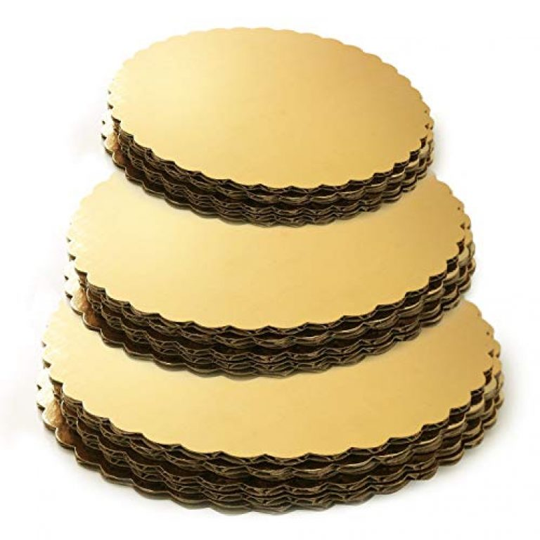 APSAMBR®-Set of 15- Gold Cake Board Plain Rounds, Circle Cardboard Base, 6, 8 and 10-Inch. Perfect for Cake Decorating, 5PCS of Each Size