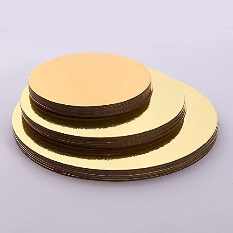 APSAMBR-2 Pcs Cake Boards Rounds, Circle Cardboard Cake Base Boards, 6/8/10 Inch, for Cake Decorating(,Gold) Size for Cake Decorating, Golden