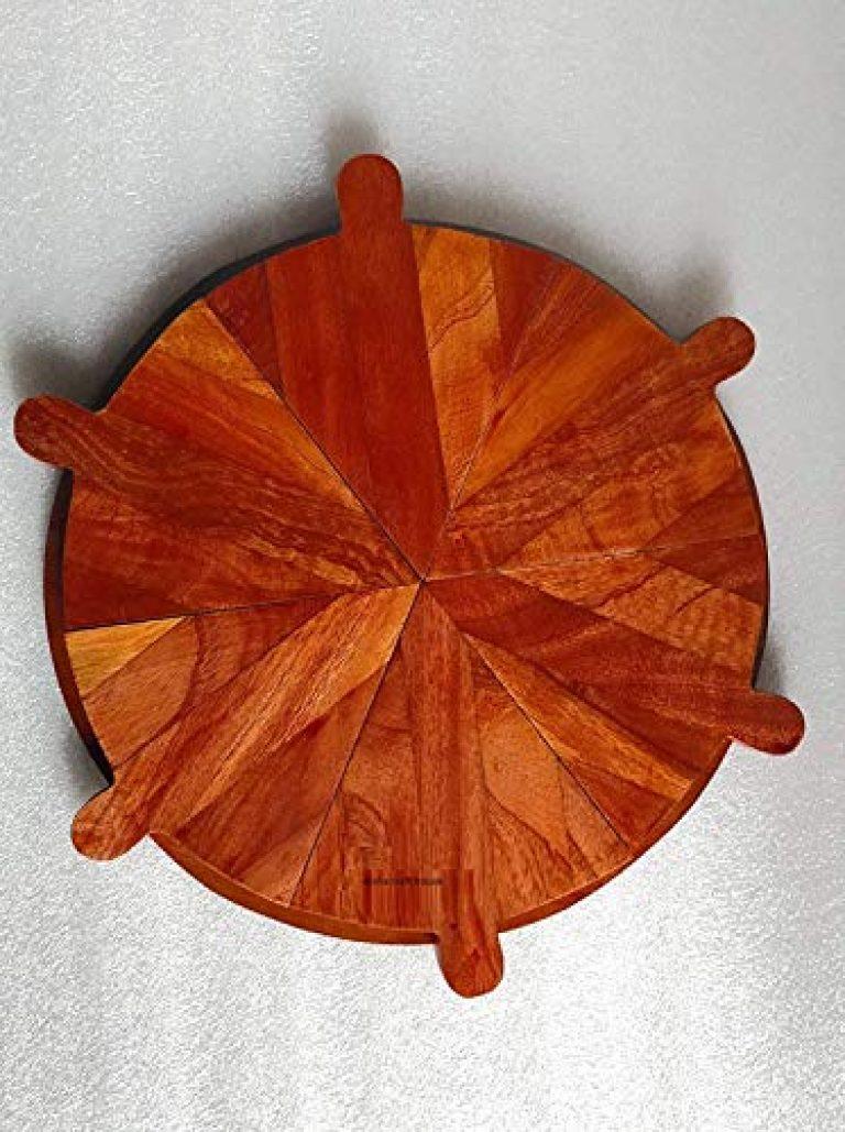 Aisha Craft House Pizza Serving Platter | Pizza Platter | Snacks Platter | Serving Platter | 6 Slice Platter