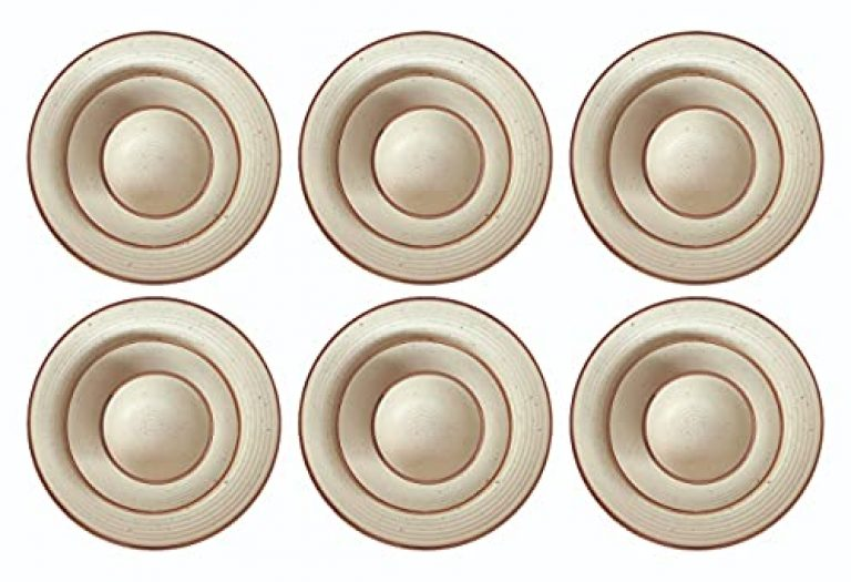 Appointments the caterer Handglazed Studio Pottery Stoneware Ceramic Dinner Set Including Full Size Plates,Small Size Plate & Bowls ( Microwave & Dishwasher Safe ) (6 Full Plate,6 Small Plate, 6Bowl)
