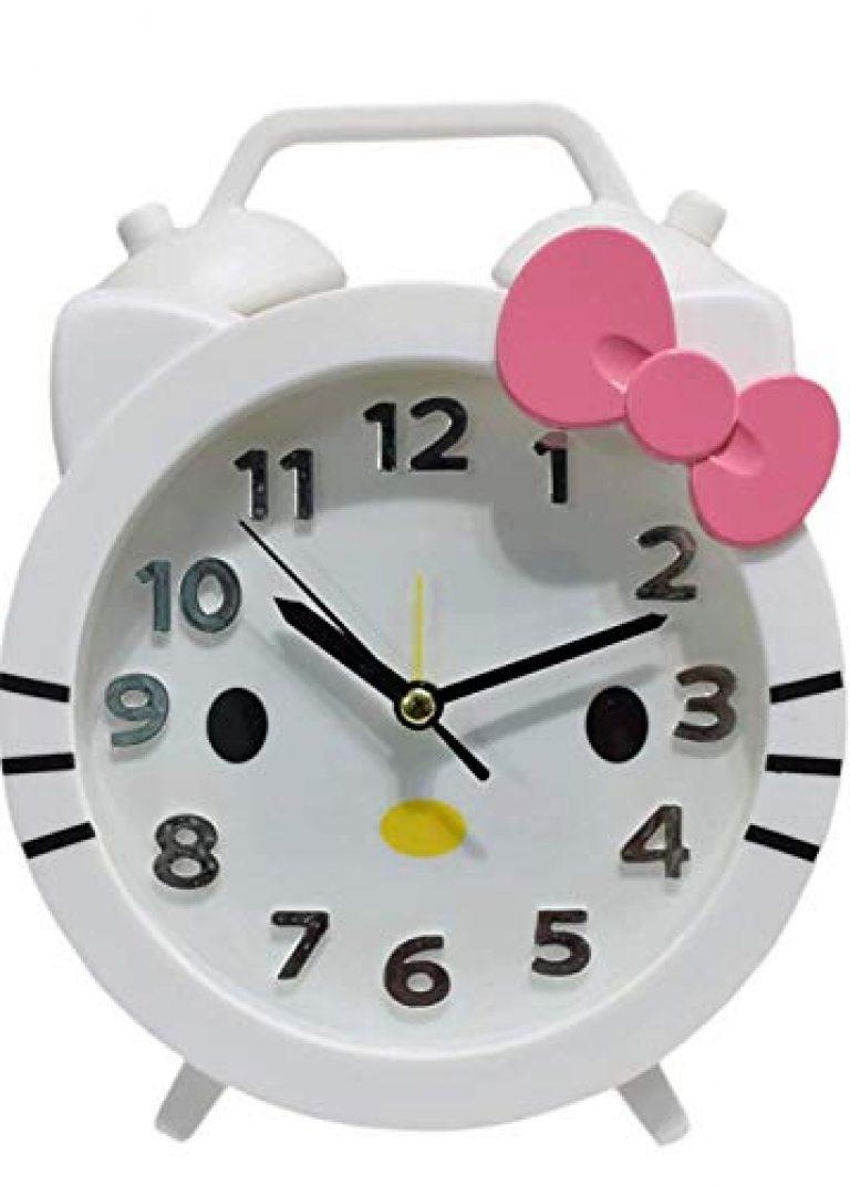 Asera Plastic Hello Kitty Alarm Table Clock for Kids – Multicolour