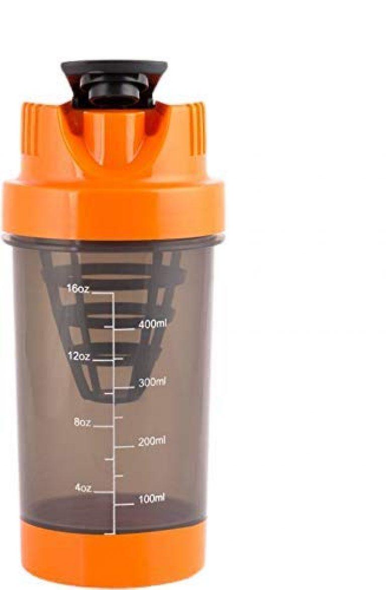 BSPA Mini Gym Protein & Supplement Shaker Bottle 500 ml Shaker Multicolors(Pack of 10)