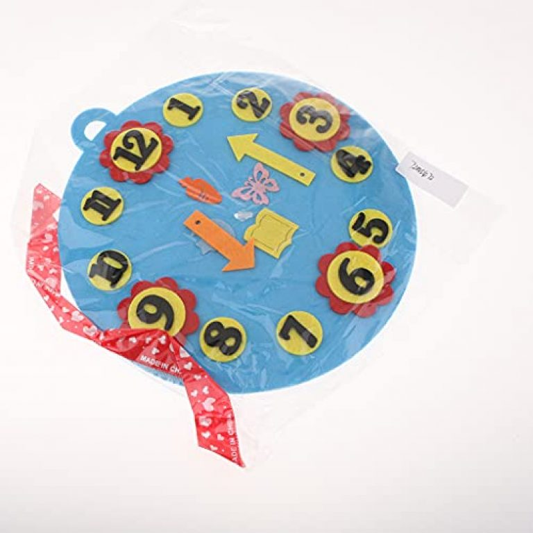 Boopow 1-10 Cognition Kindergarten Math Toy Teaching Aids Early Education Material Blue Clock