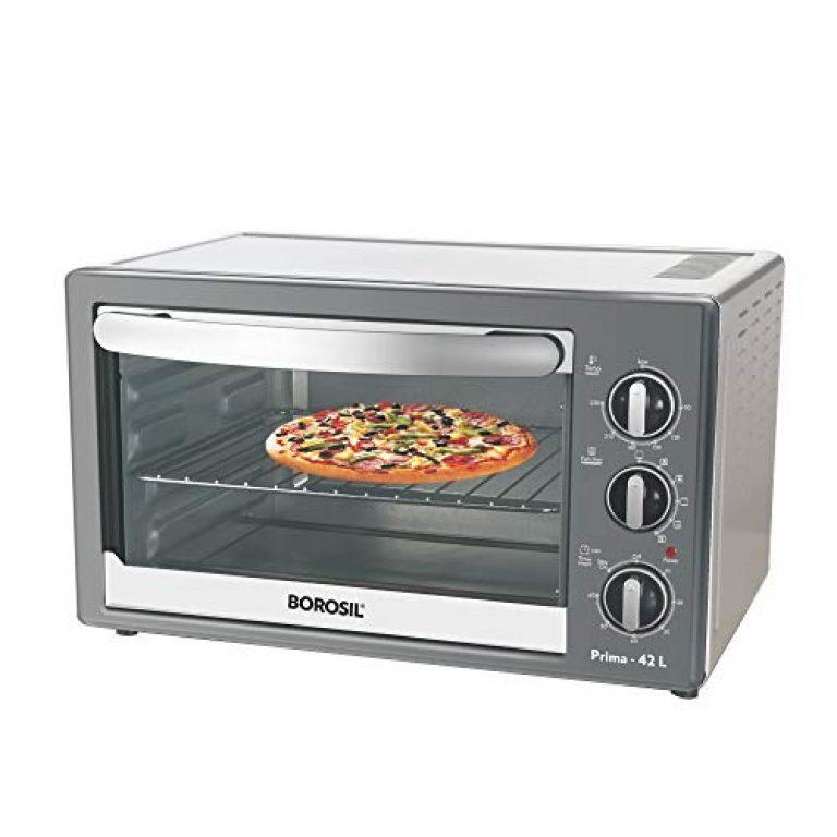 Borosil Prima 42-Liters Oven Toaster Grill Black/Steel, Standard