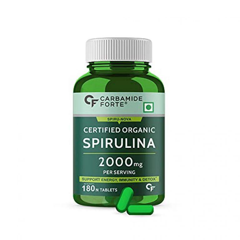 Carbamide Forte 100% Organic Spirulina Tablets 2000mg Per Serving – 180 Tablets