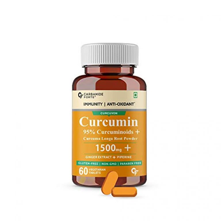 Carbamide Forte Curcumin with Piperine Tablets with 95% Curcuminoids   Immunity Boosters Tablet for Adults with Curcuma Longa, Turmeric Powder & Ginger – 60 Veg Tablets