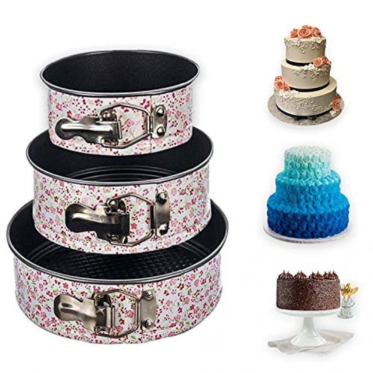 Casa Azul Cake Tins for Baking – Round Cake Tin – Springform Cake Tin – Baking Tins and Trays – Cheesecake Tins – Cake Pan Size (18cm/20cm/22cm)