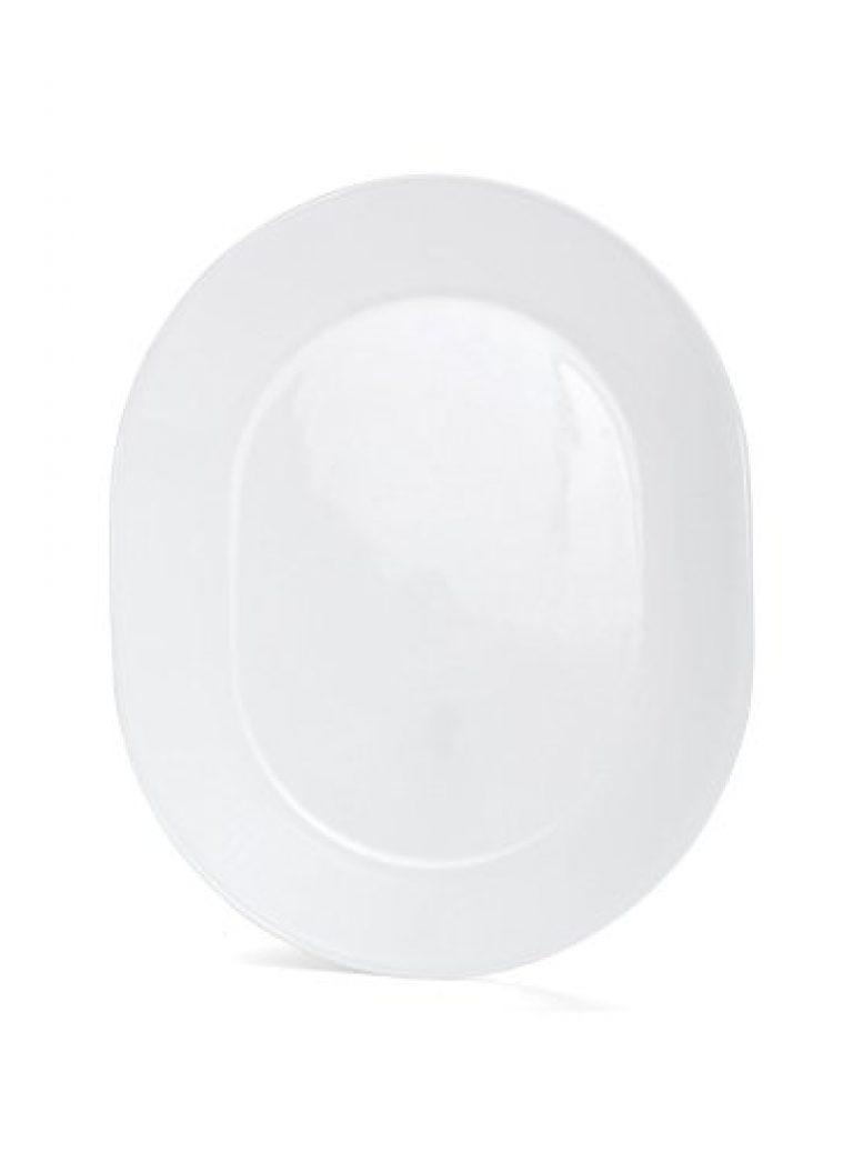 Corelle Livingware Winter Frost White Vitrelle Glass Oval Serving Platter, Set of 1