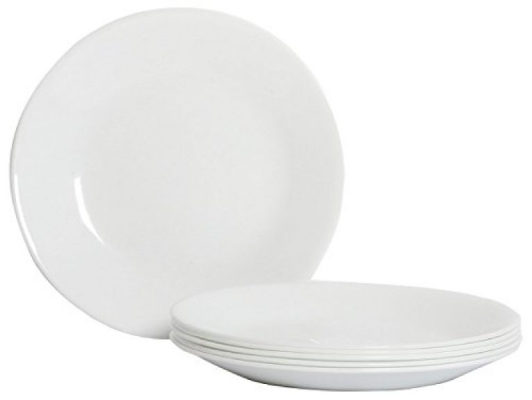 Corelle Winter Frost White Glass Small Plate Pack of 6, 17CM