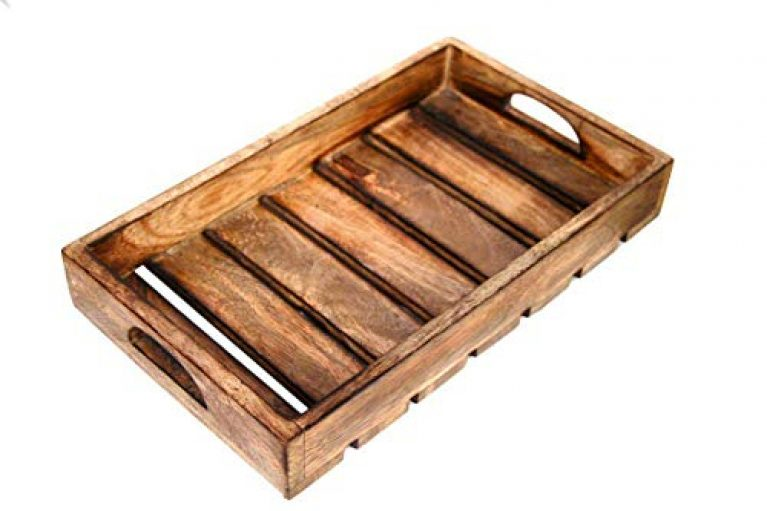 Craft Expertise Mango Wood Serving Tray, Brown, 1 Piece