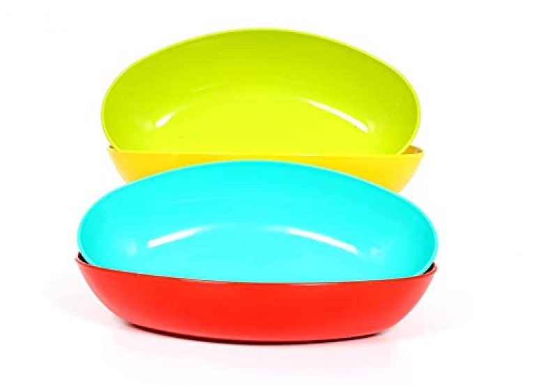 DALTON Set of 4 Mixing Square Unbreakable Utensils Microwave Safe Oven Plastic Serving Bowls for Kitchen, Snacks, Salad, Cake Making Mixing Bowl Set (Multicolor, Eclipse-500 ML)