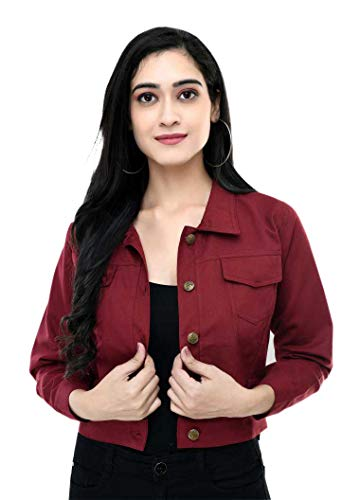DNEXT Women Solid Cotton Jacket Full Sleeve for Girls