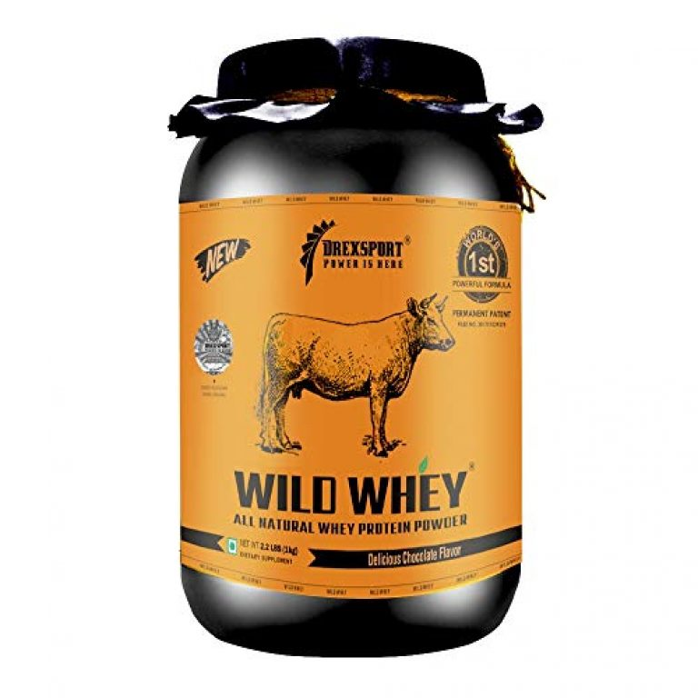 DREXSPORT – Wild Whey – Organic, Grass-fed Whey Protein Powder for Men, Women and Athletes – Blend of Isolate and Concentrate – Authentic Supplement (Brand Hologram on the Jar) – Chocolate 1kg