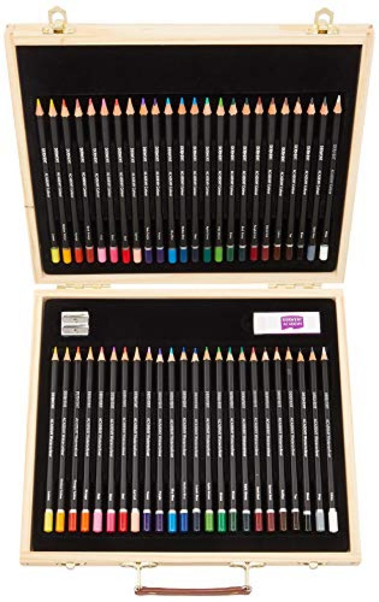 Derwent Academy Colouring and Watercolour Pencils Combination Wooden Gift Box (Set of 48)