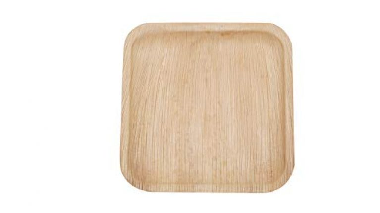 ECORITI Palm Leaf Plate – Pack of 25, NATURAL BROWN
