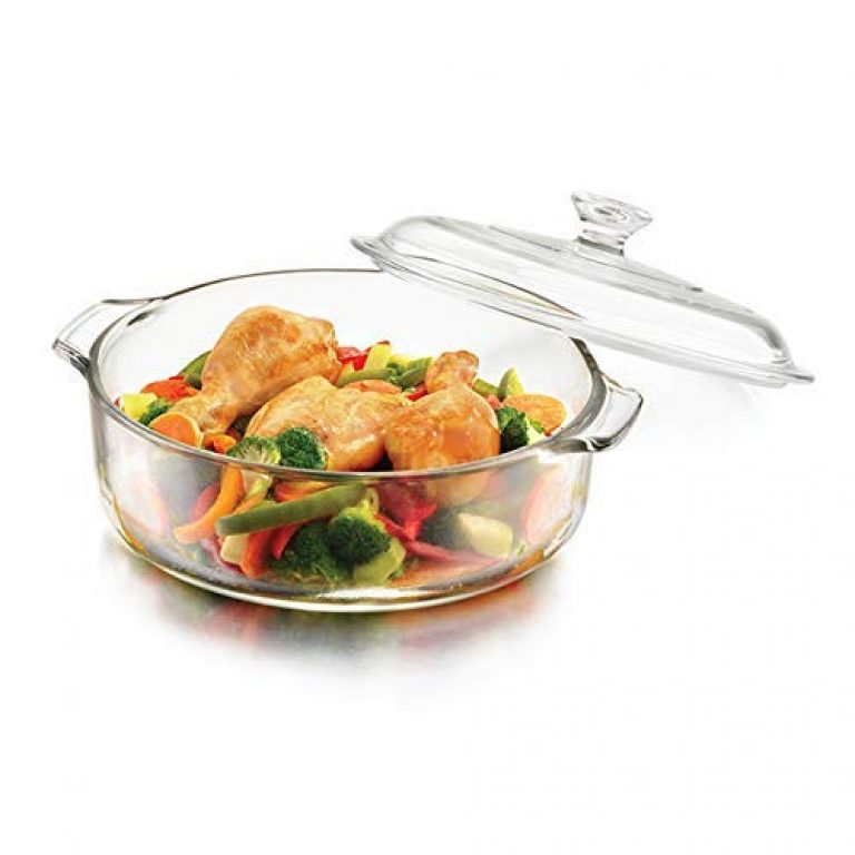 FRATELLO HOME – Glass Casserole Deep Round – (1 LTR) Oven and Microwave Safe Serving Bowl with Glass Lid Set of (1 – pcs)