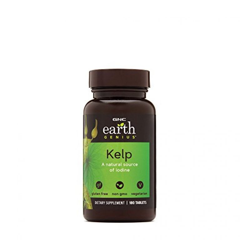 GNC Earth Genius Kelp   A Natural Source of Iodine   Dietry Supplements   (180 Tablets)