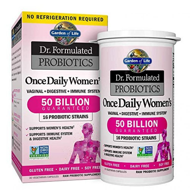 Garden of Life Probiotic Supplement for Women – Dr. Formulated Once Daily Womens for Digestive Health, Shelf Stable, 30 Capsules