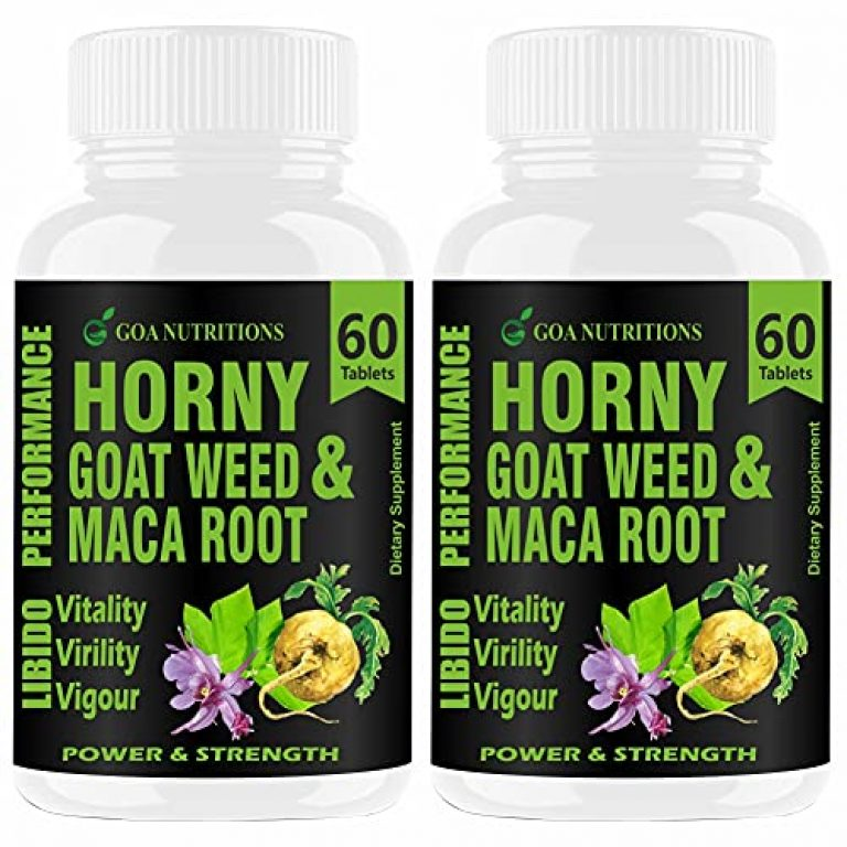 Goa Nutritions Horny Goat Weed with Maca Root Powder Extract 1000 mg per serving-120 Tablets