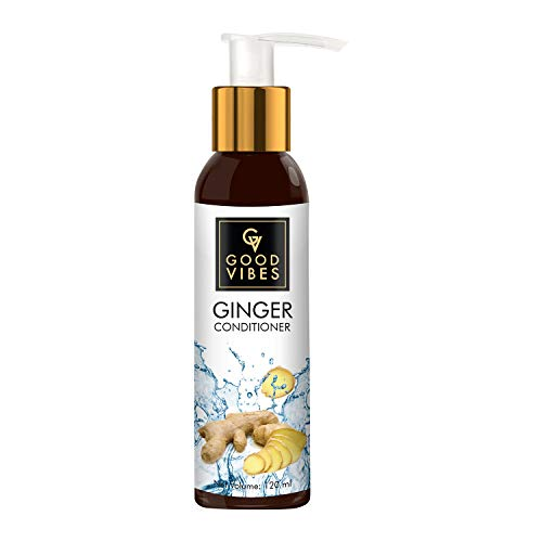 Good Vibes Ginger Anti Dandruff Conditioner – 120 ml – For Dry Itchy Scalp – Shiny Hair Growth Calming Scalp Treatment – Paraben Free