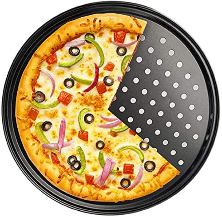 Goodware 32 cm Nonstick Pizza Pan Baking Tray Plate with Holes Pizza Baking Tool Big Size