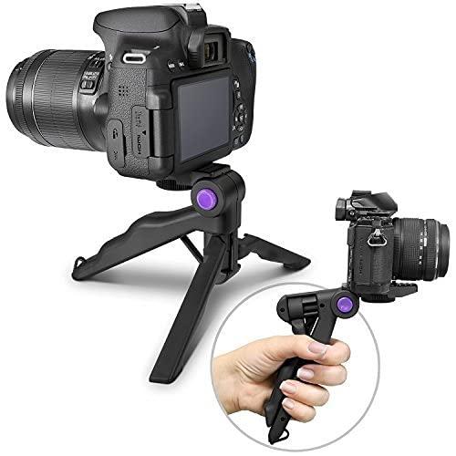HOJI Photo Mini Tripod for Camera w/Pistol Grip, Portable Small Tripod for DSLR & Mirrorless Cameras, Mini Tripod Stand w/Anti Slip Feet, Works as Desktop Tripod, Vlog Tripod, Table Tripod