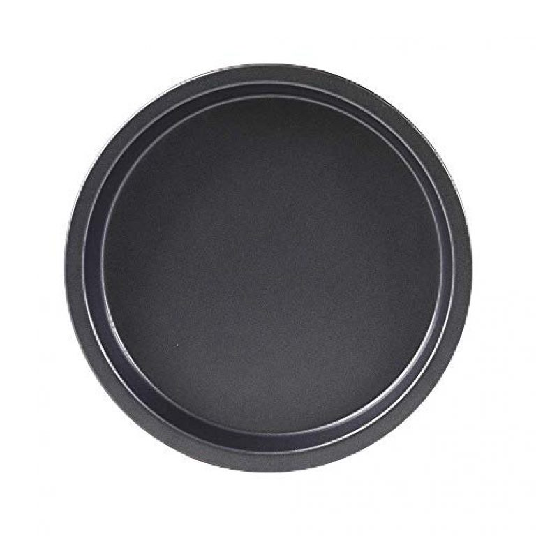 Haneez Carbon Steel Non-Stick Pizza Pan for Oven, Microwave (Convection), OTG, Small 16 cm (6.5 Inches,count:1), Black