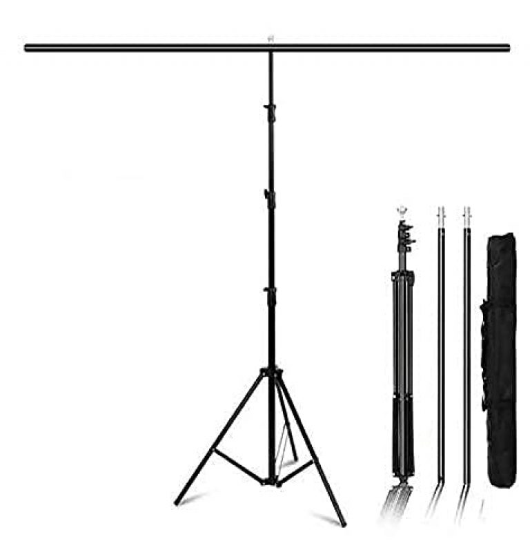 Hanumex® T-Shape 6×9 Ft Backdrop/Background Stand,6ft Wide 9ft Tall Adjustable Background Support System Kit Heavy Duty Thicken Photo Backdrop Stand for Parties Birthday Photographic Studio Video