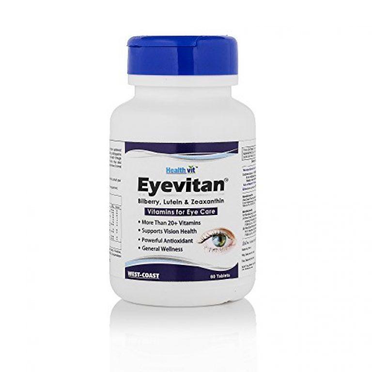 Healthvit Eyevitan Eye Care With Bilberry Lutein Zeaxanthin Vitamins – 60 Tablets