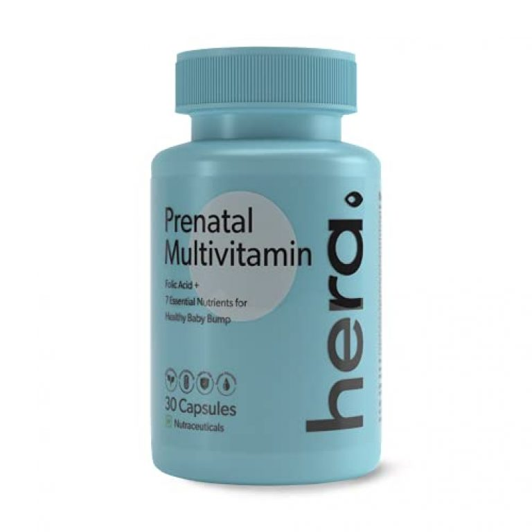 Hera – Prenatal Multivitamin – Pregnancy Nutrition – For Baby Growth, Body Changes – With Folic Acid, Iron, Vitamin C – 100% Vegetarian – Tested for Safety