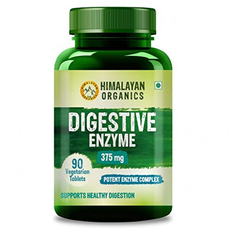 Himalayan Organics Digestive Enzyme Supplement with Bromelain & Papain – For Healthy Digestion – 90 Veg Tablets