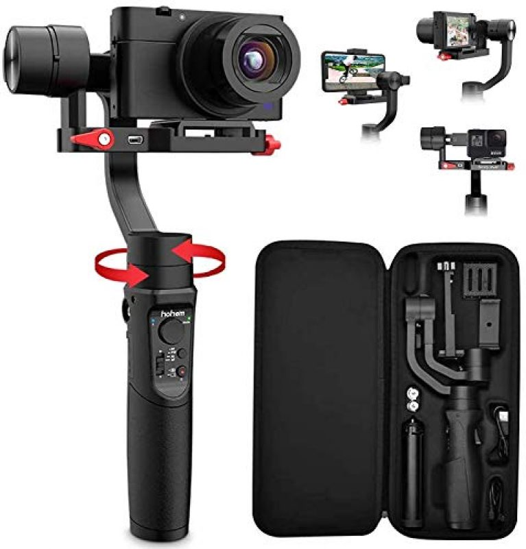 Hohem iSteady Multi All in 1 3-Axis Handheld Gimbal Stabilizer for Smartphones, Action Cameras and Digital Cameras with 8 Hours Battery Life