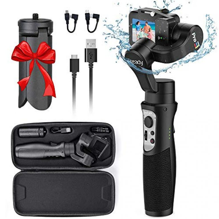 Hohem iSteady PRO 3 3-Axis Handheld Gimbal Stabilizer for GoPro Hero 8/7/6/5/4/3, DJI OSMO Action, SJCAM, YI Cam, Sony RX0 Action Cameras | Water Splash-Proof, Wireless Control Gimbal with Tripod