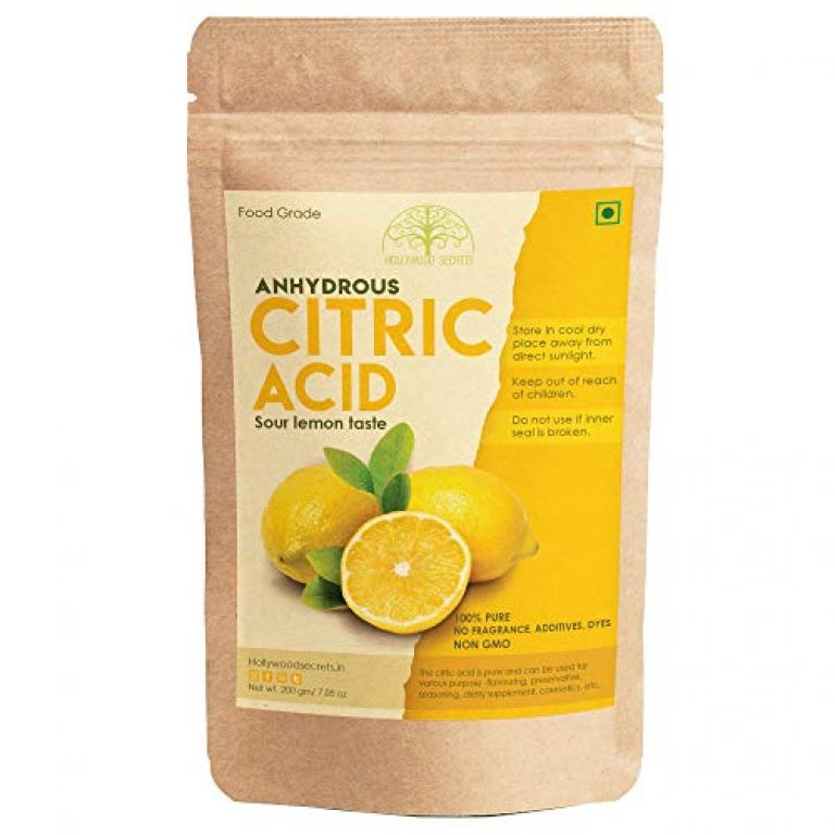 Hollywood Secrets 100% Pure Citric Acid Powder Food Grade Non-Gmo 200 Gms