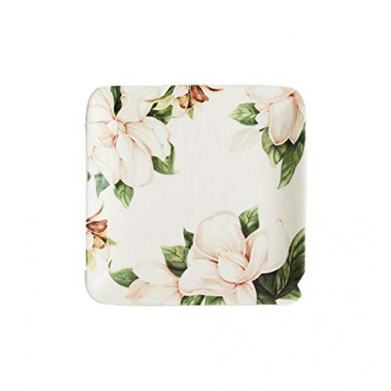 Home Centre Ceramic Side Plate – 1 Appetizer Plate, Green