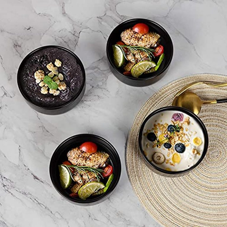 Home Decorise Melamine Small Soup Serving Bowls for Pasta, Salad and Ice Cream, Gifting Option (Small, Set of 6, Matt Black)