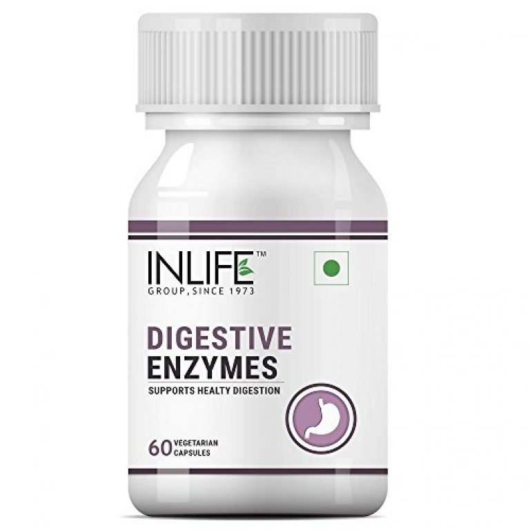 INLIFE Digestive Enzymes Supplement for Digestive Support – 60 Vegetarian Capsules (Pack of 1)