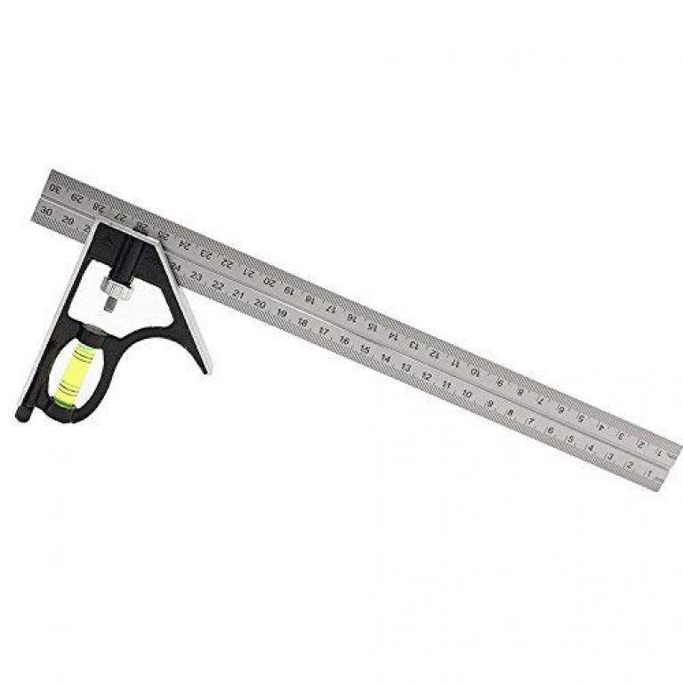 Inrali Right Angle Ruler,12-Inch Universal Adjustable Metric Stainless Steel Multifunctional Combination Try Square Set Right Angle Ruler,Combination Square, Carpentry Tools, Woodworking Tools