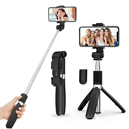 JB Super Bluetooth Extendable Selfie Stick with Wireless Remote and Tripod Stand Selfie Stick for for Mobile and All Smart Phones