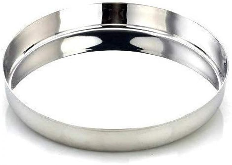 JGS Stainless Steel Heavy Gauge Dinner Plates Thali with Mirror Finish for Kitchen and Home Set of 6 (12 Inch)